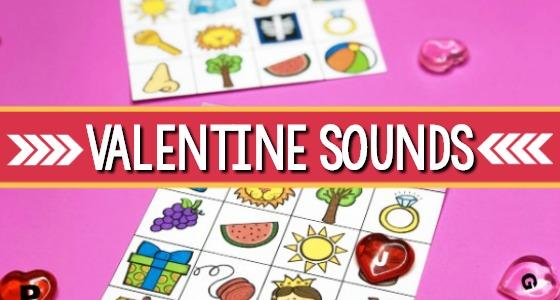Printable Valentine Beginning Sounds Game
