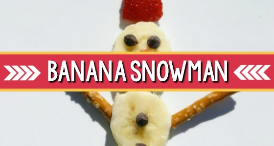 Classroom Recipes: Banana Snowman