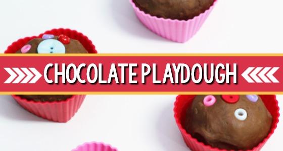 Valentine Heart Chocolate Playdough