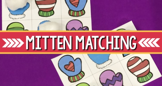 Printable Mitten Matching Game