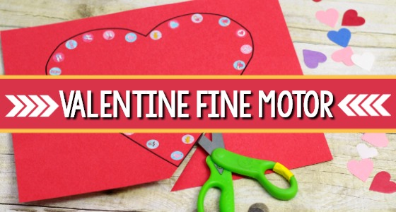 Valentine Fine Motor Activities for Preschoolers