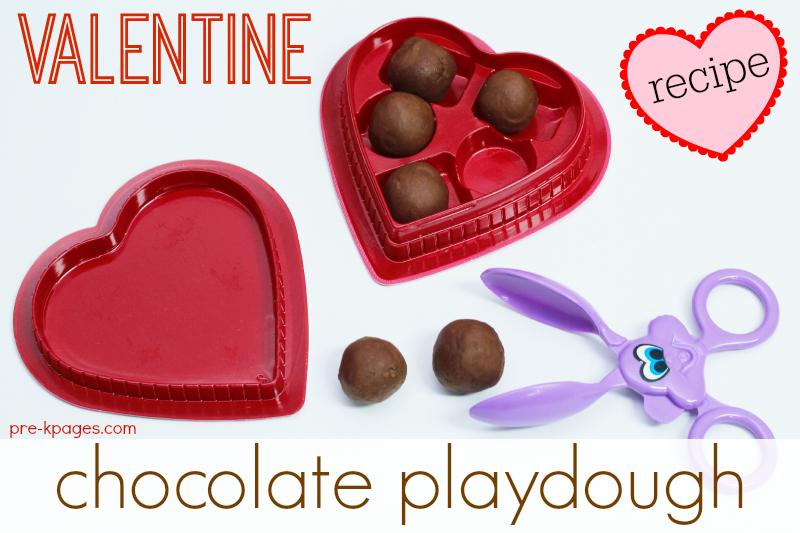 Chocolate Playdough Recipe for Valentine's Day Fun in Preschool
