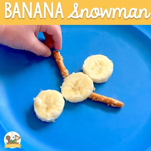 how to make a banana snowman