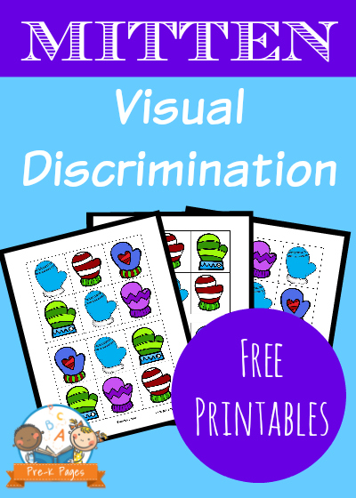 Mitten Visual Discrimination Activity for Preschool