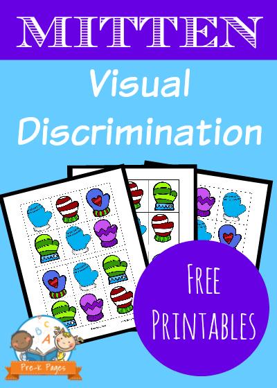 Mitten Visual Discrimination Activity for Preschool