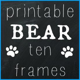Printable Bear Ten Frames