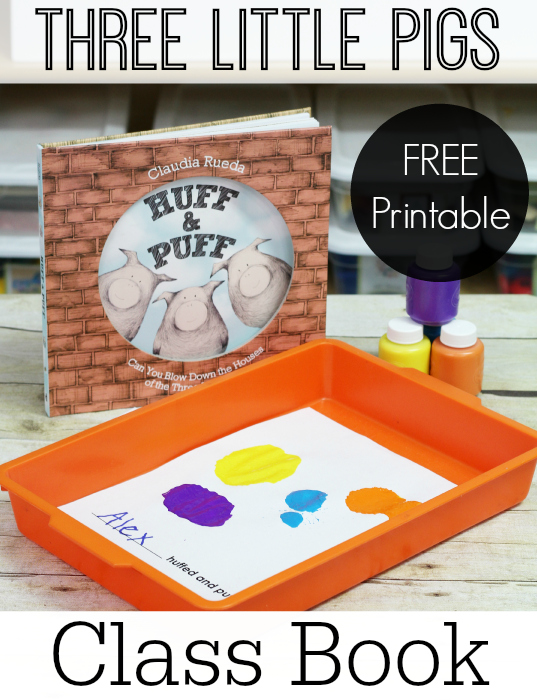 Three Little Pigs Printable Class Book Activity