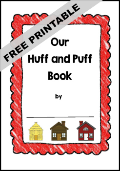 Three Little Pigs Class Book Printable Template