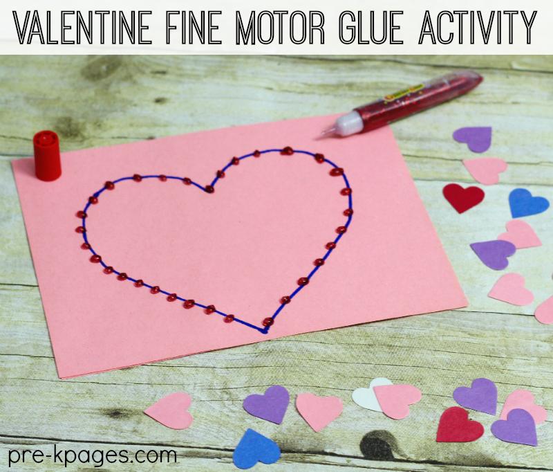 Valentine Fine Motor Glue Activity