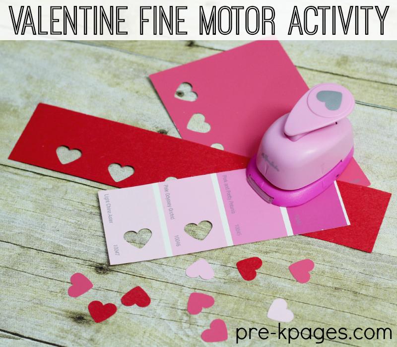 Valentine Fine Motor Paper Punch Activity