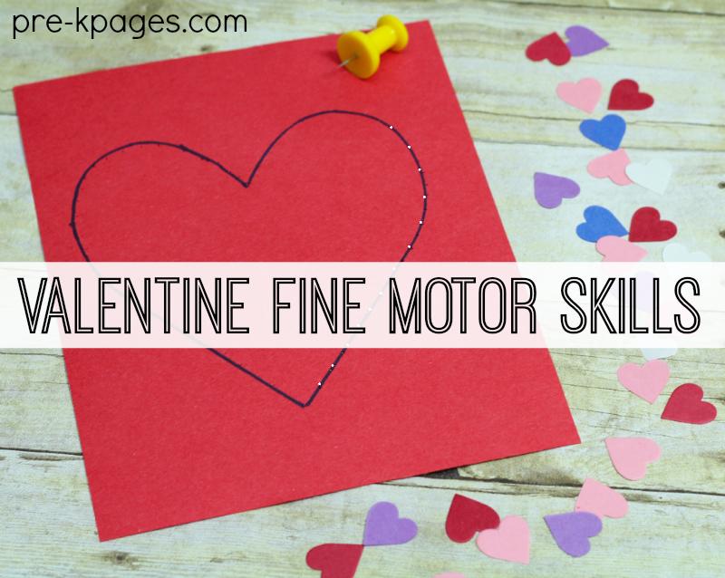 Valentine Fine Motor Pin Activity