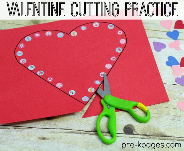 Valentine Fine Motor Scissor Skills