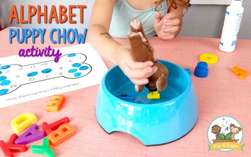 Fun Small Group Alphabet Activity for Preschool Puppy Chow