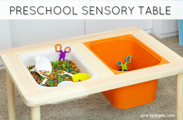 Preschool Sensory Table from IKEA