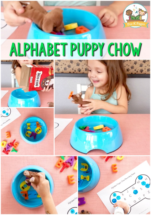 photograph relating to Alphabet Matching Game Printable identified as Alphabet Pet Chow Video game - Pre-K Internet pages