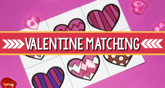 Valentine Visual Discrimination Activity (+Printable)