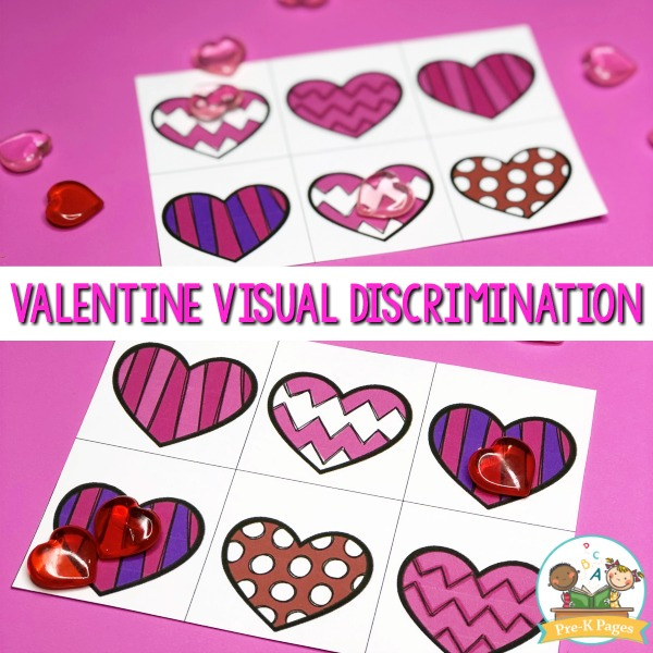 Valentine visual discrimination activity