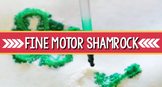 fine motor shamrock craft
