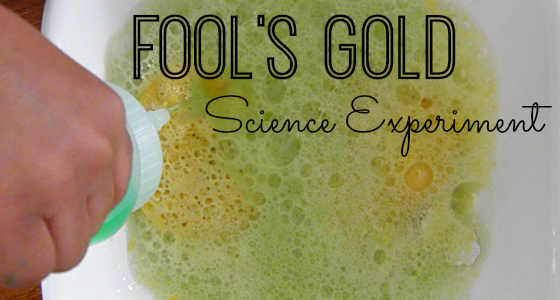 Fool's Gold Baking Soda Science Experiment for Preschoolers