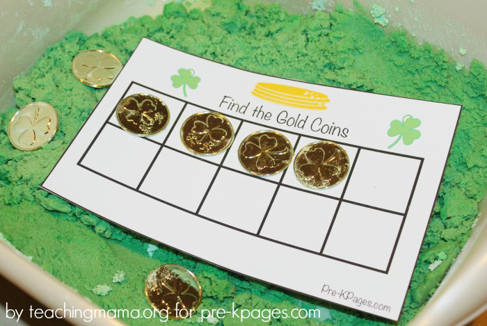 Printable Gold Coin Ten Frame