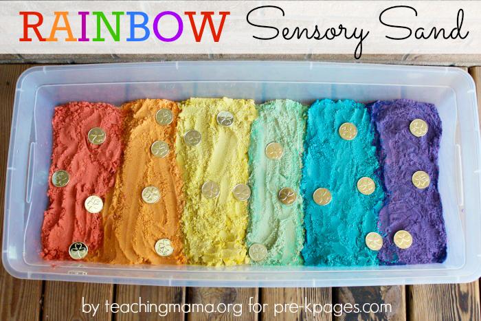 Moldable Rainbow Sensory Sand