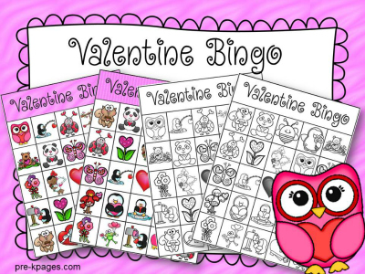 photograph regarding Printable Valentine Bingo Cards identify Printable Valentine Bingo Video game for Preschool
