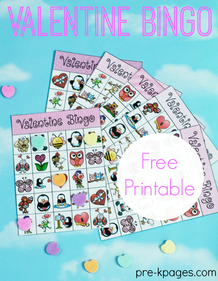 This is a photo of Valentine Bingo Free Printable pertaining to 25 printable