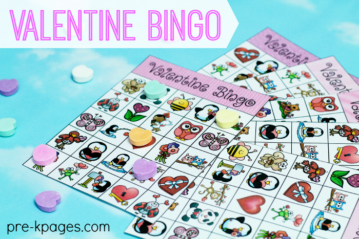 graphic relating to Valentine Bingo Printable called Printable Valentine Bingo Activity for Preschool