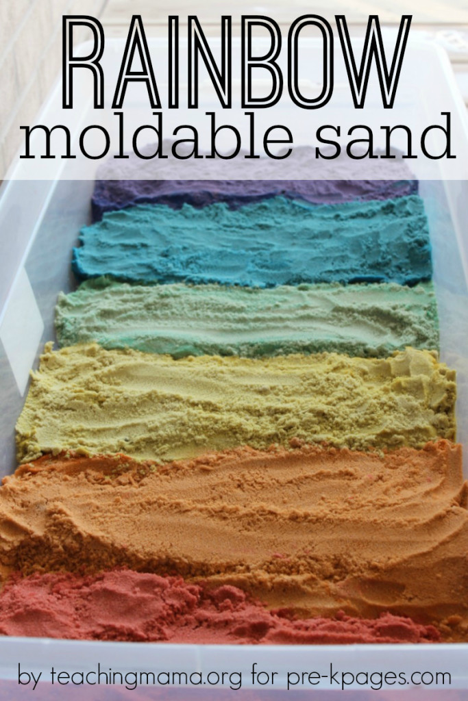 Rainbow Moldable Sensory Sand