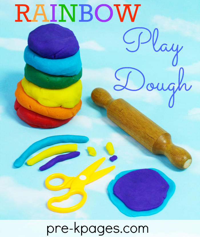 Rainbow Play Dough from Pre-K Pages