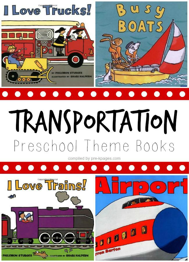Transportation Theme Books for Preschool