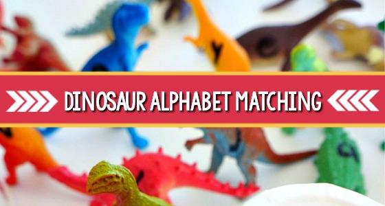 Dinosaur Alphabet Matching Game