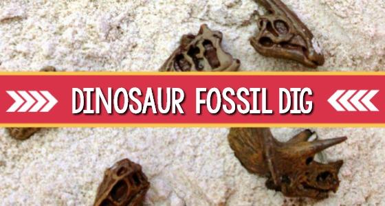 Dinosaur Fossil Dig Sensory Bin
