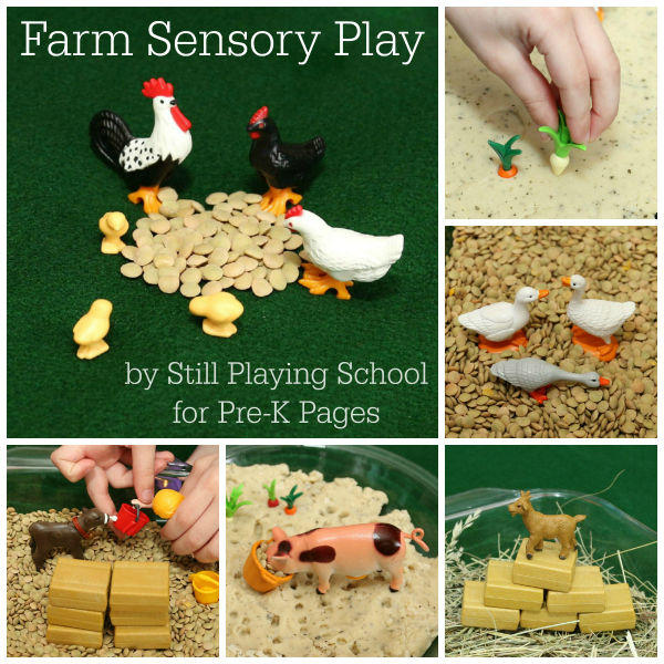 Farm Sensory Play for preschoolers