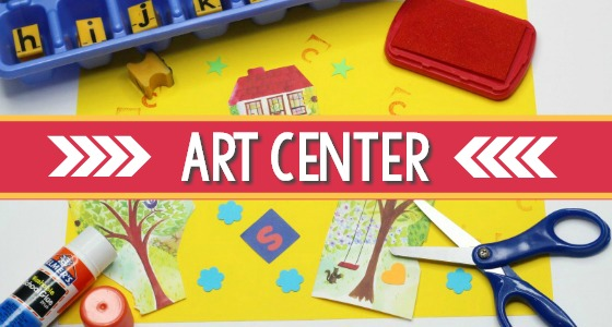 How to set up your art center in preschool