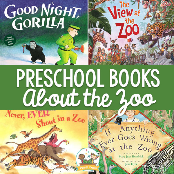preschool books about the zoo