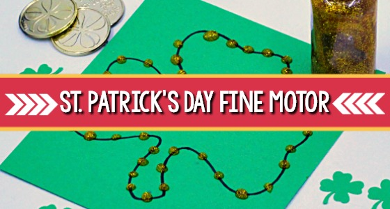 St Patricks Day Fine Motor Tray
