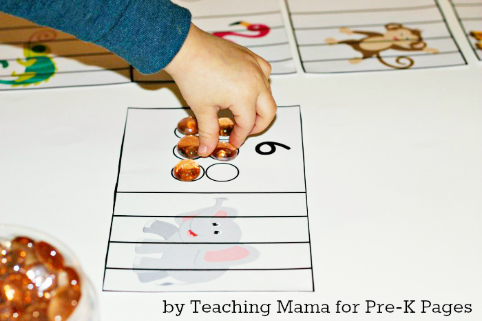 Zoo Animal Counting Activity for Preschool