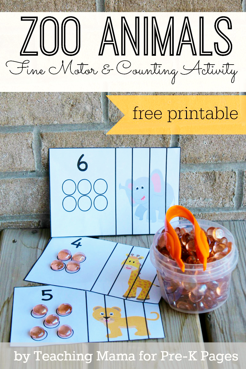 Zoo Animal Fine Motor Activity