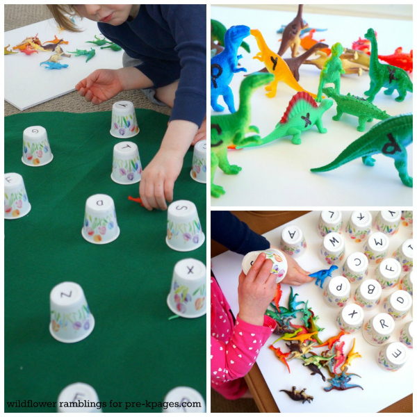 Dinosaur Alphabet Matching Activity for Preschoolers