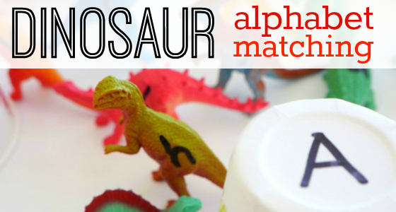 Dinosaur Alphabet Matching Activity