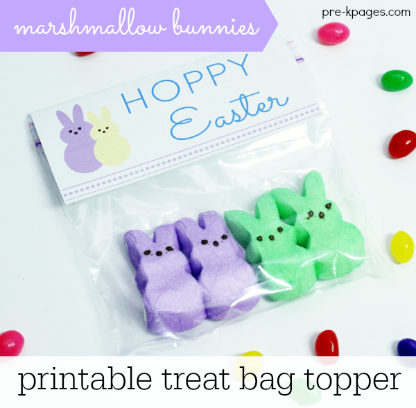 Easter Printable Treat Bag Topper