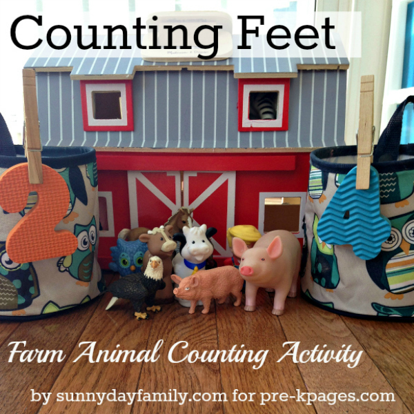 Farm Theme Animal Math Counting Activity