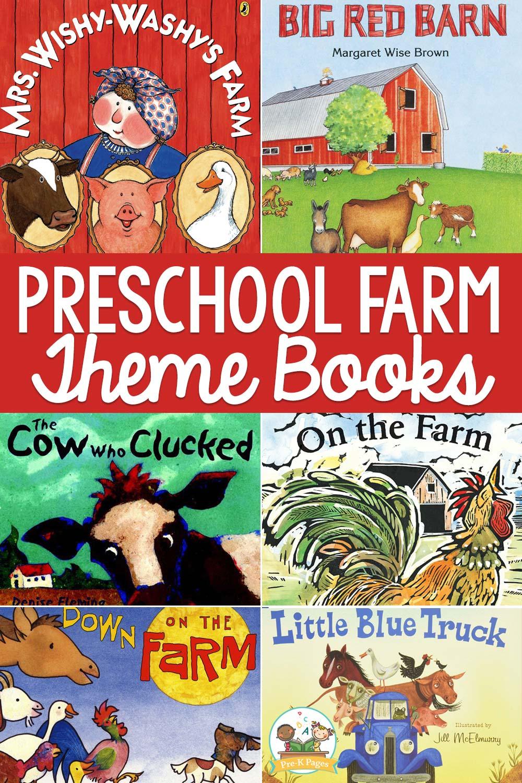 farm preschool theme books