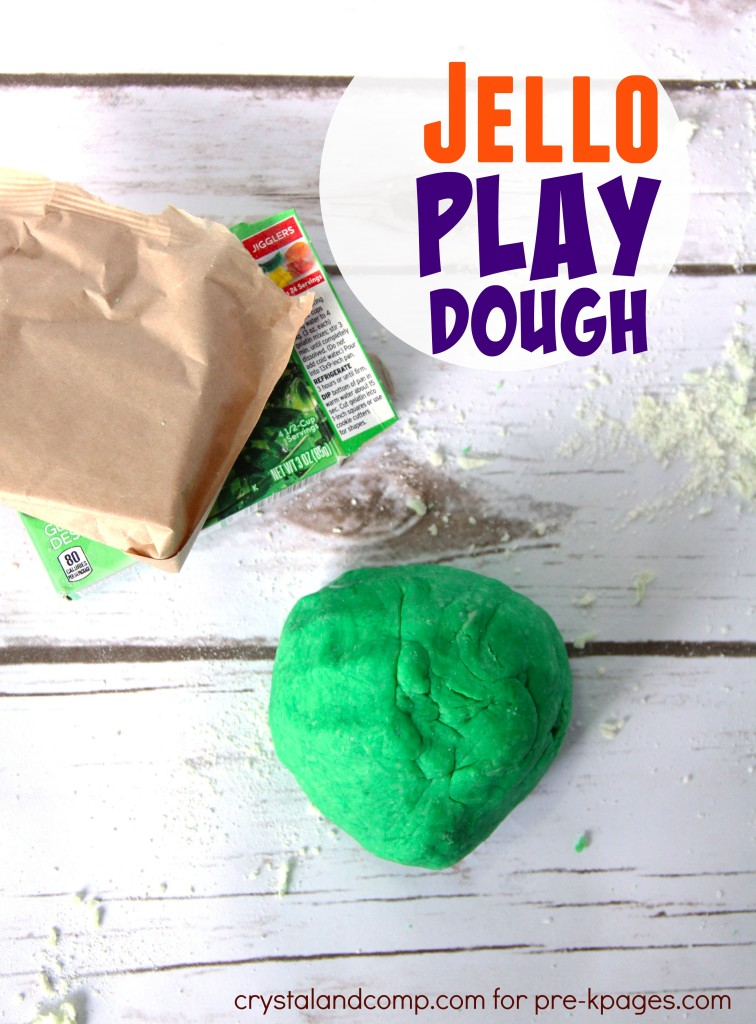 green jello playdough pre-kpages