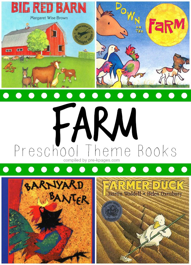 farm theme picture books for preschool