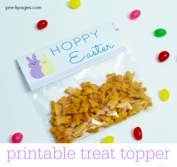 Printable Easter Treat Bag Topper