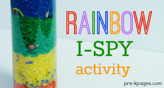 Rainbow I-Spy Activity for Beginning Sounds in Preschool and Kindergarten