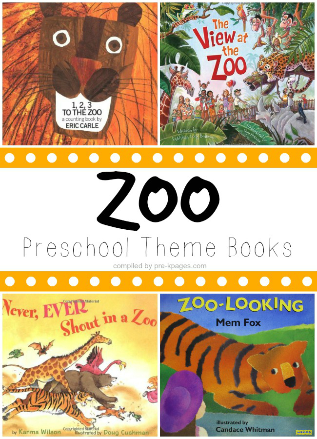 Zoo Preschool Theme Books