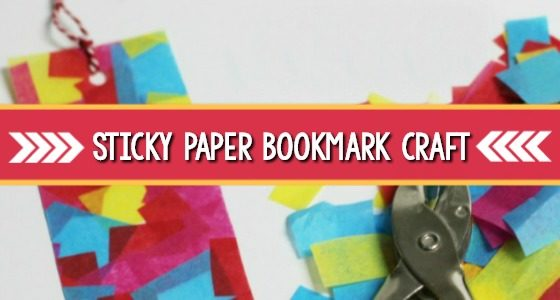 Sticky Paper Bookmark Craft